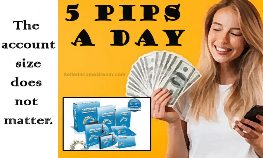 5 Pips A Day Account size? Does it matter
