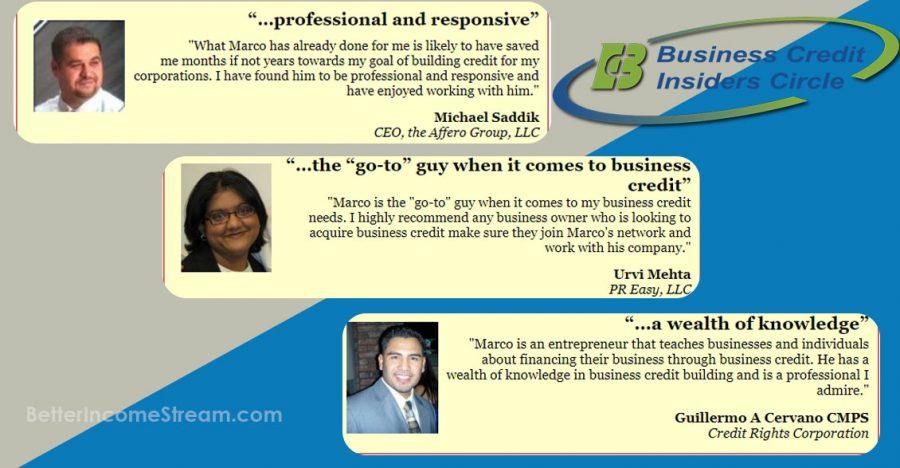Business Credit Insider Circle Testimonials