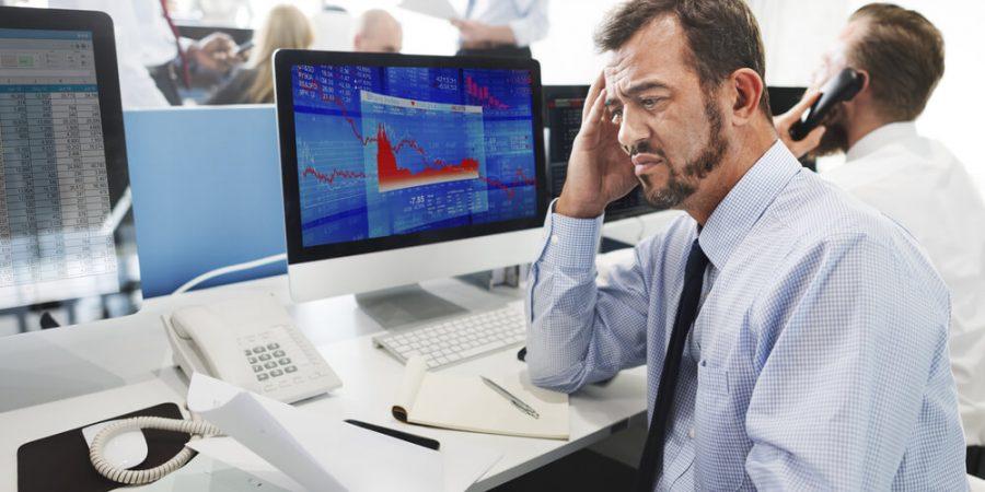 Businessman Stress Failed Unsuccessful Stock
