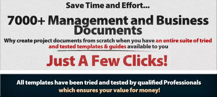 With PM Milestone, you'll get access to over 7000 project management and business documents.