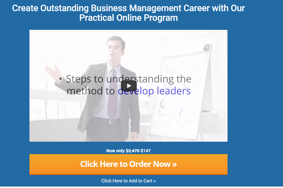 The certified Business unit manager Program