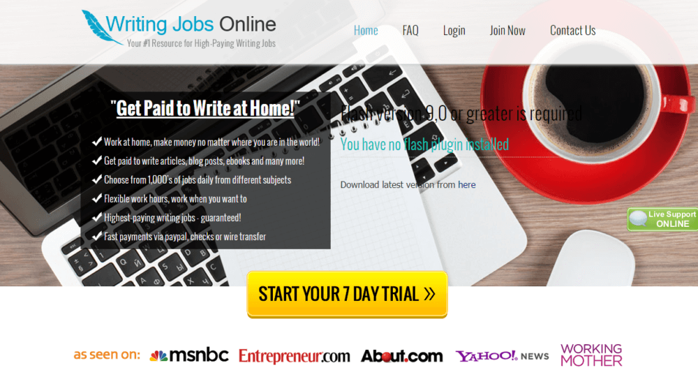 Get Paid for a Home Based Work