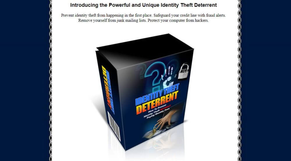 Get yourself protected from identity thieves.