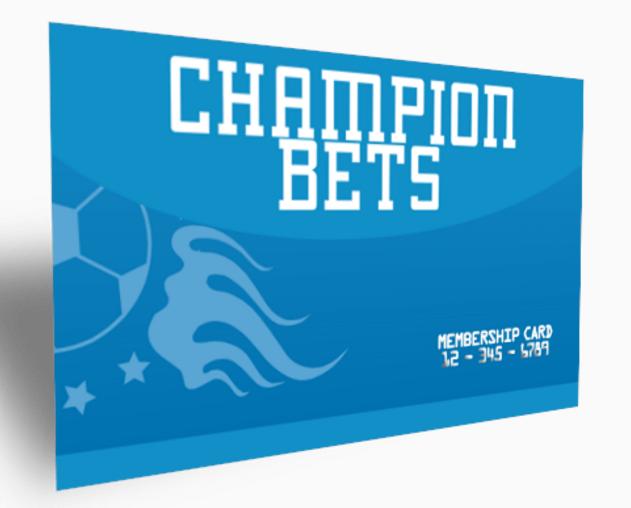 Champion Bets Membership Card