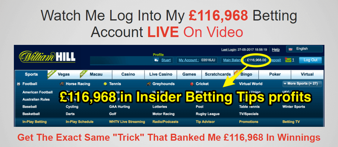 Log into betting account online