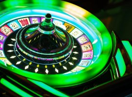 Colorful Neon Illuminated Roulette Casino