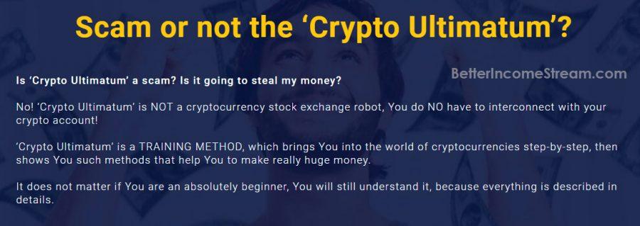 Crypto Ultimatum Scam or not