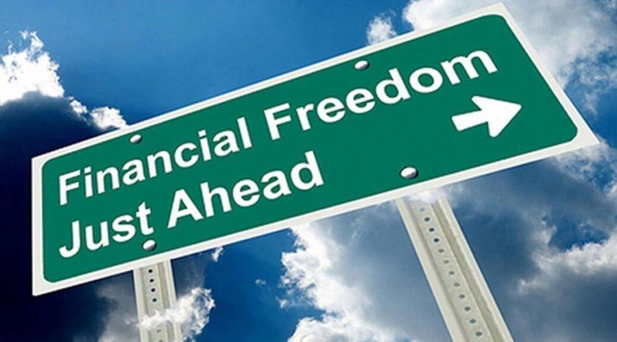 Financial freedom arrow