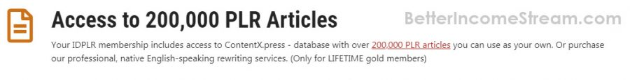 IDPLR Access to PLR Articles