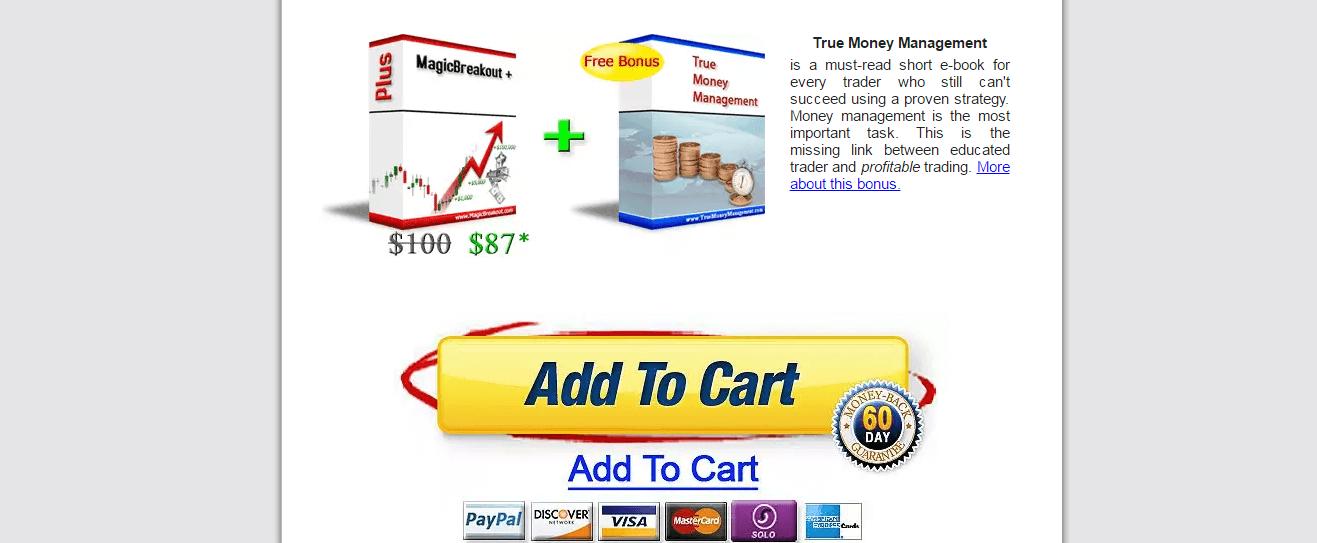 Magic Breakout Product Website