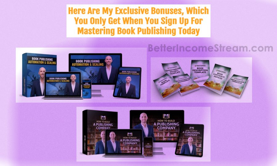 Mastering Book Publishing Exclusive Bonuses