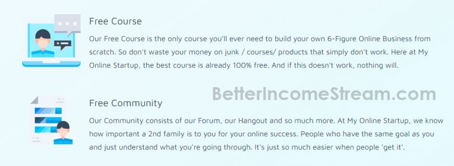My Online Start Up Free Course and Community