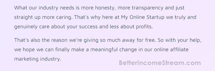 My Online Start Up Industry