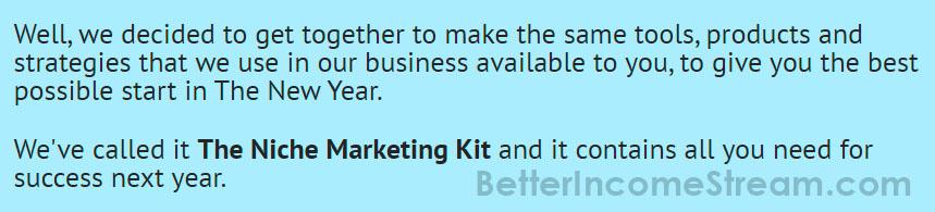 Niche Marketing Kit Possible Start