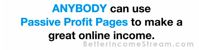 Passive Profit Pages AnyBody can use this product