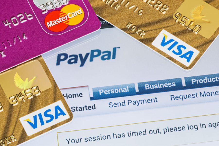 Paypal, Visa and Mastercard