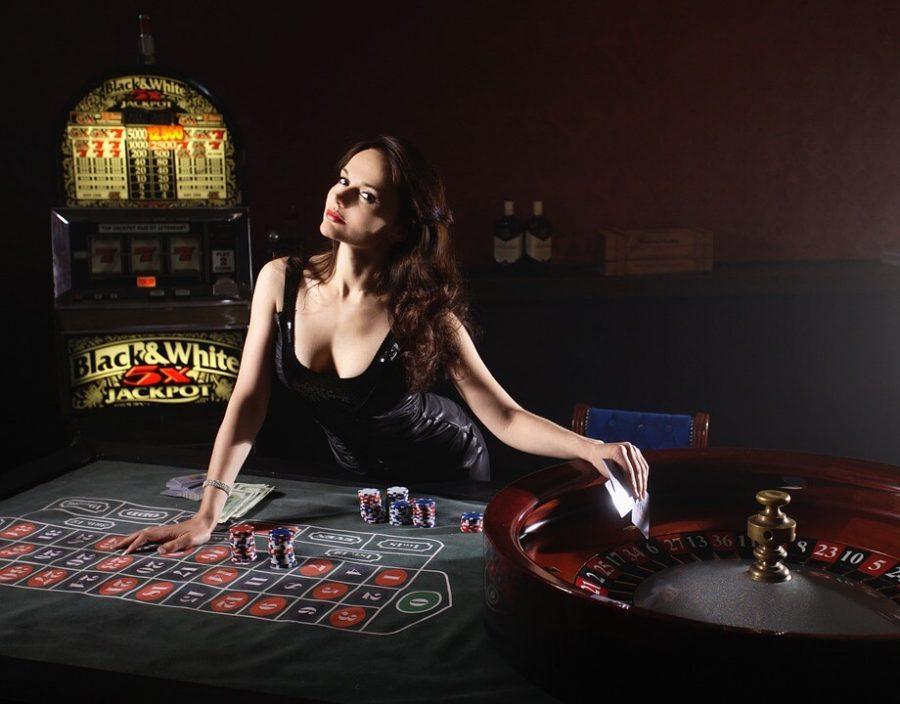 Poker Money Girl Cards Play Casino Game Roulette