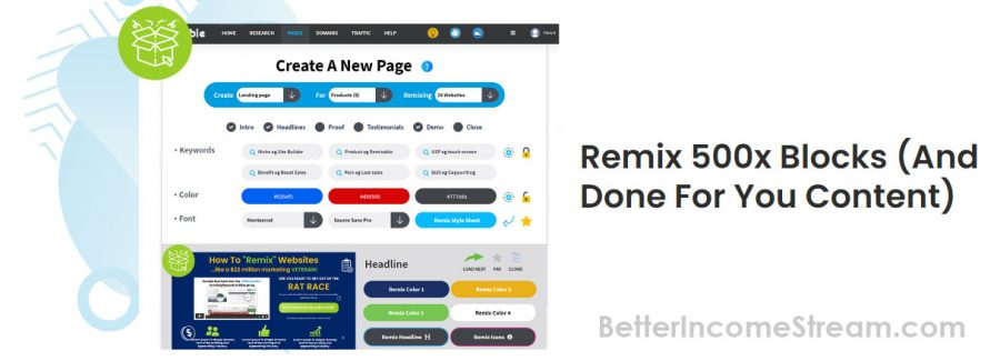 Remixable Create a new page