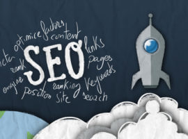SEO factors.Rocket taking off