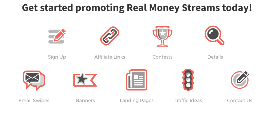 Get started promoting Real Money Streams today!
