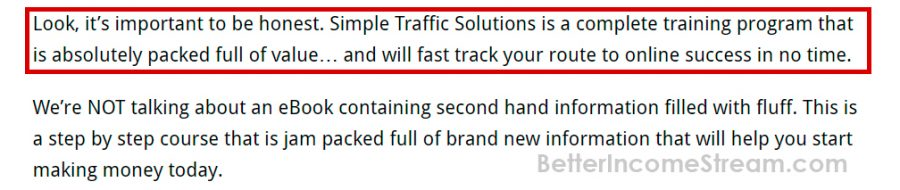 Simple Traffic Solution Important to be Honest