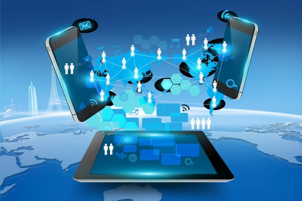 Social Networking and People Connectivity Concept