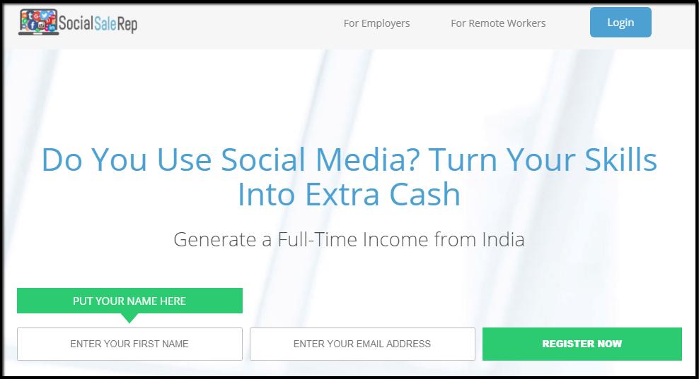 Social sale rep is a digital marketing program