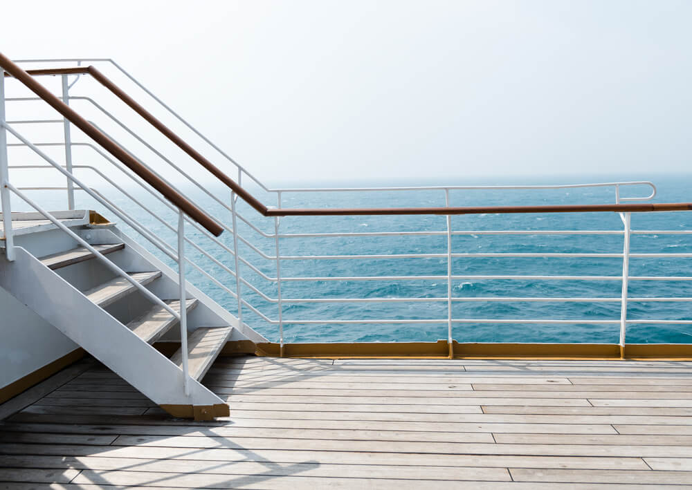 Staircase in a big cruise ship