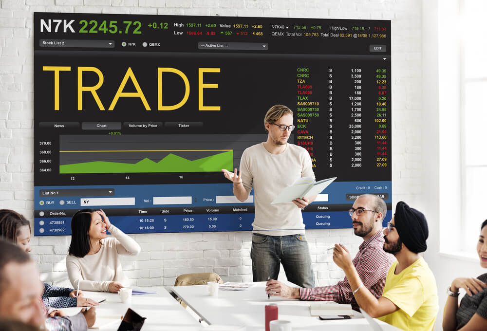 Stock Exchange Trading Forex Finance Graphic