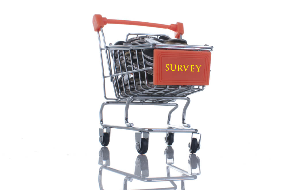 Survey word on mini trolley