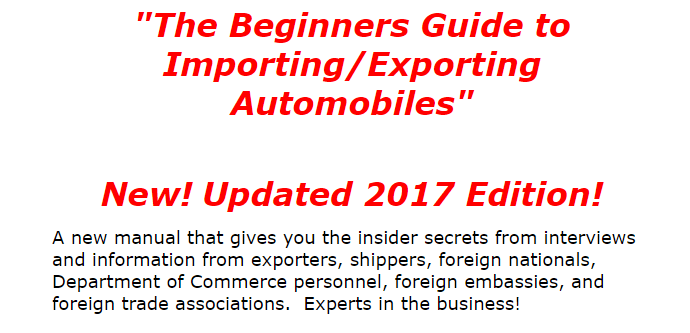 The Beginners Guide To Importing Exporting Automobiles Review 1