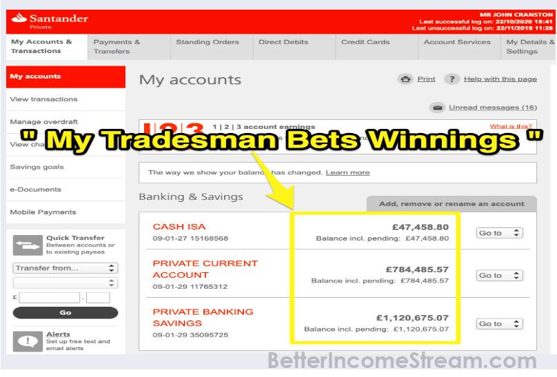Trade Man Bets Way of Winnings