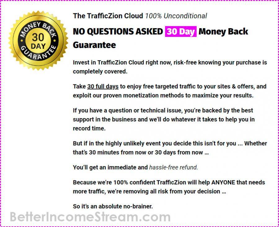 Trafficzion Money Back Guarantee