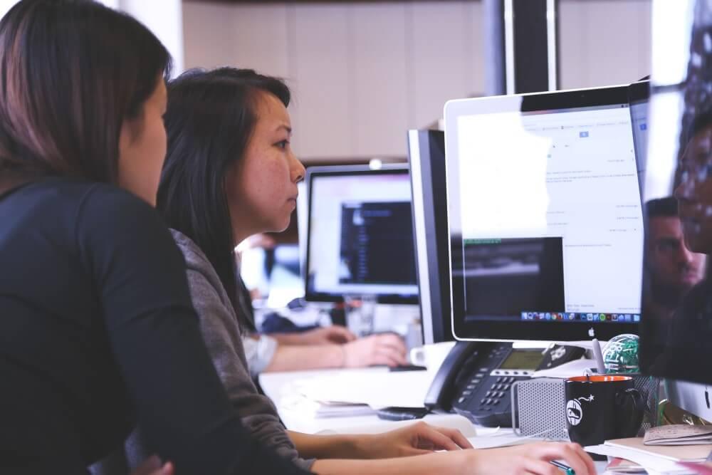 Women in a computer