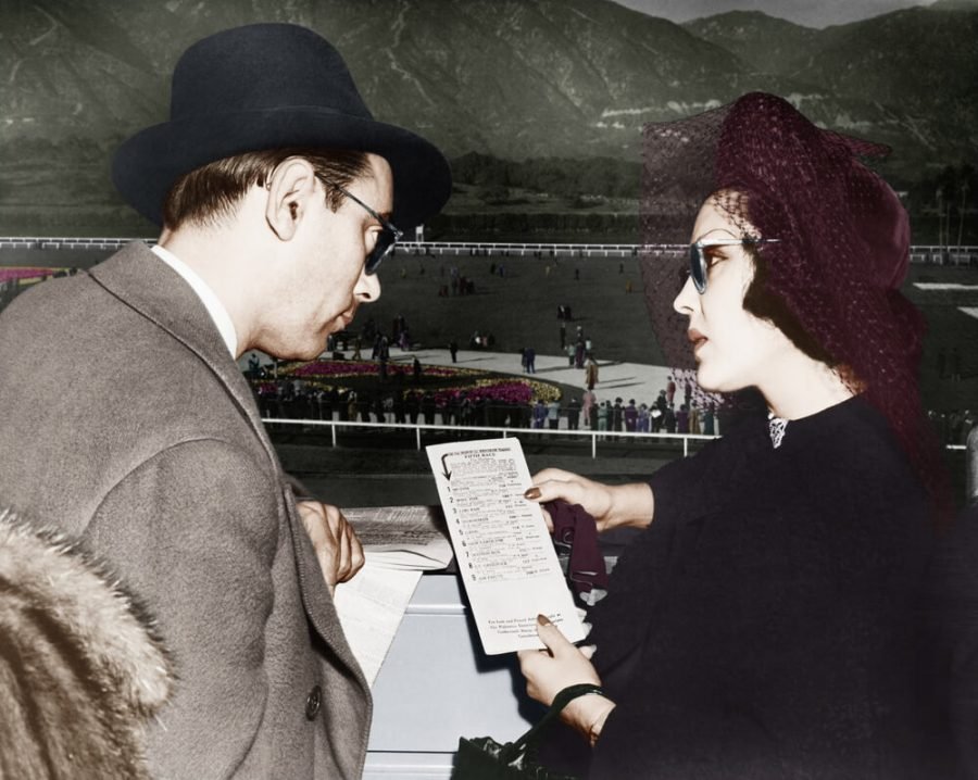 couple at a horse race