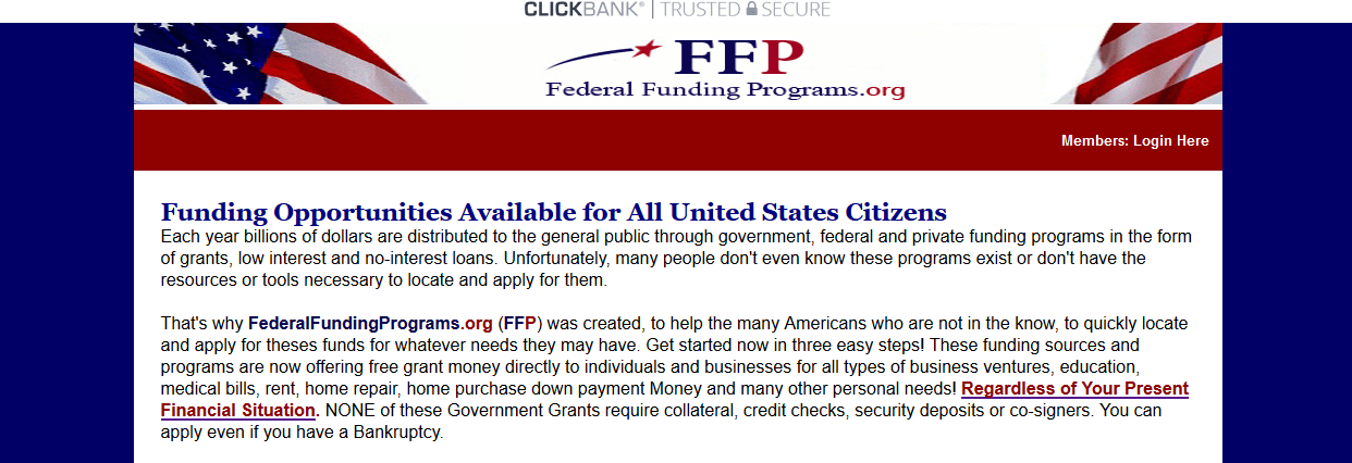 FederalFundingPrograms screenshot