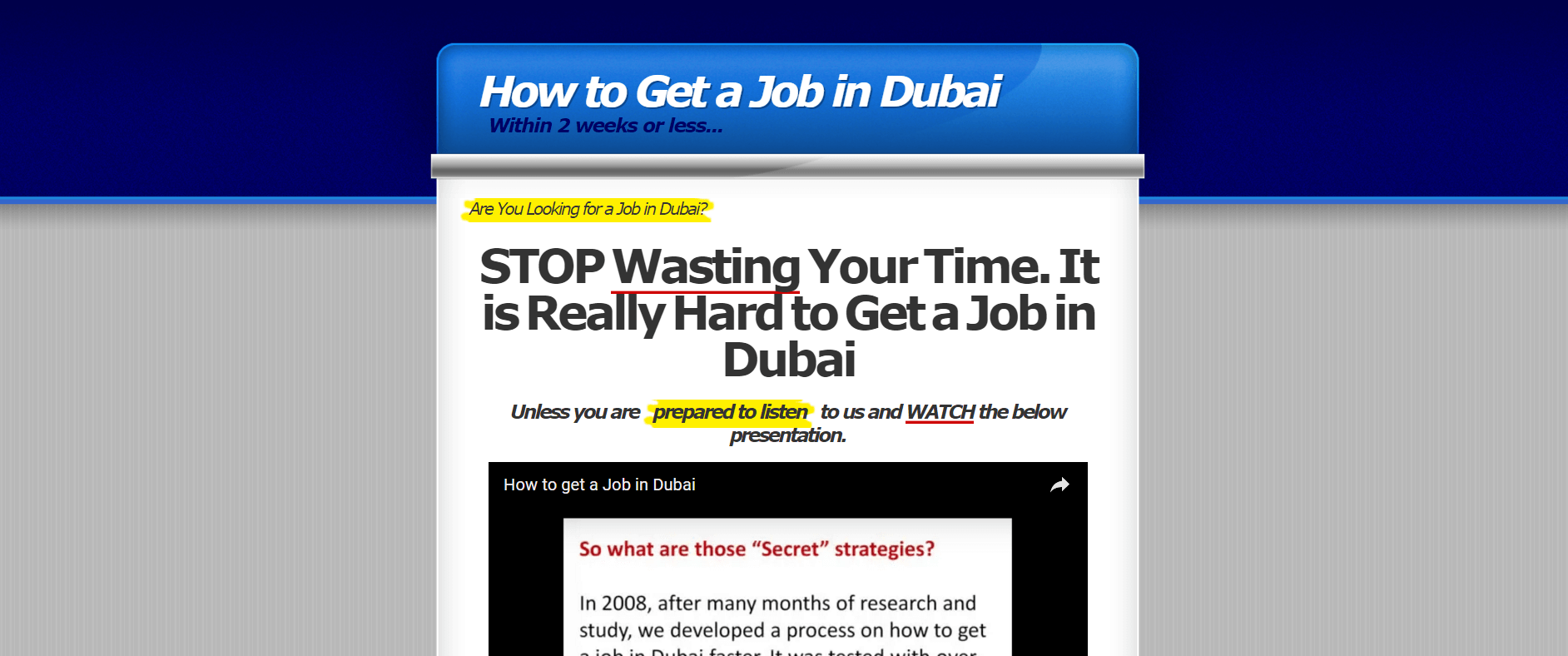 The eBook is chock full of tips, tricks and even a resume building guide to help you out in Dubai!