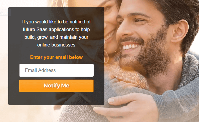 Get notified about future Saas applications for your online business by entering your email add right on the AK Elite website.
