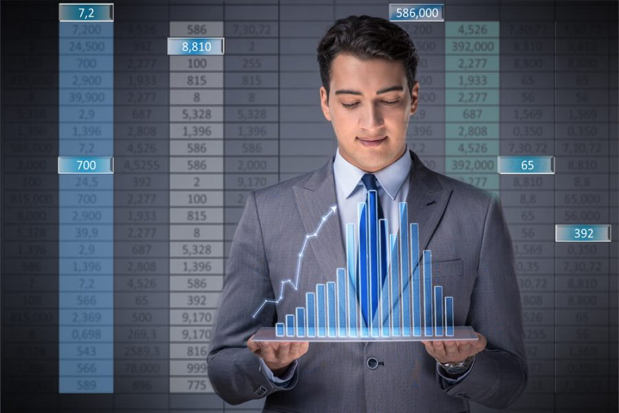 Man in stock trading business