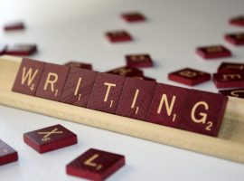 Wrting writen with scrabbles